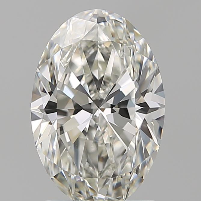 1.60-Carat Natural Ideally Cut Oval Diamond