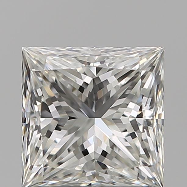 1.00-Carat Natural Ideally Cut Princess Diamond