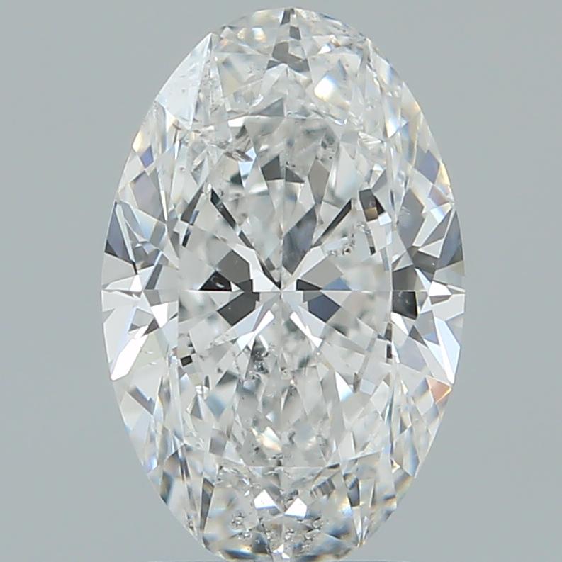 2.00-Carat Natural Ideally Cut Oval Diamond