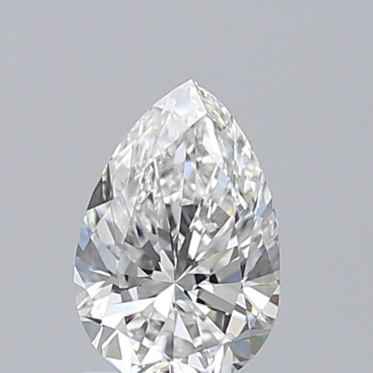 0.96-Carat Natural Ideally Cut Pear Diamond