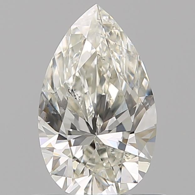 0.62-Carat Natural Ideally Cut Pear Diamond