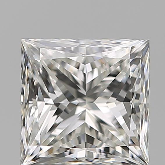 0.96-Carat Natural Ideally Cut Princess Diamond