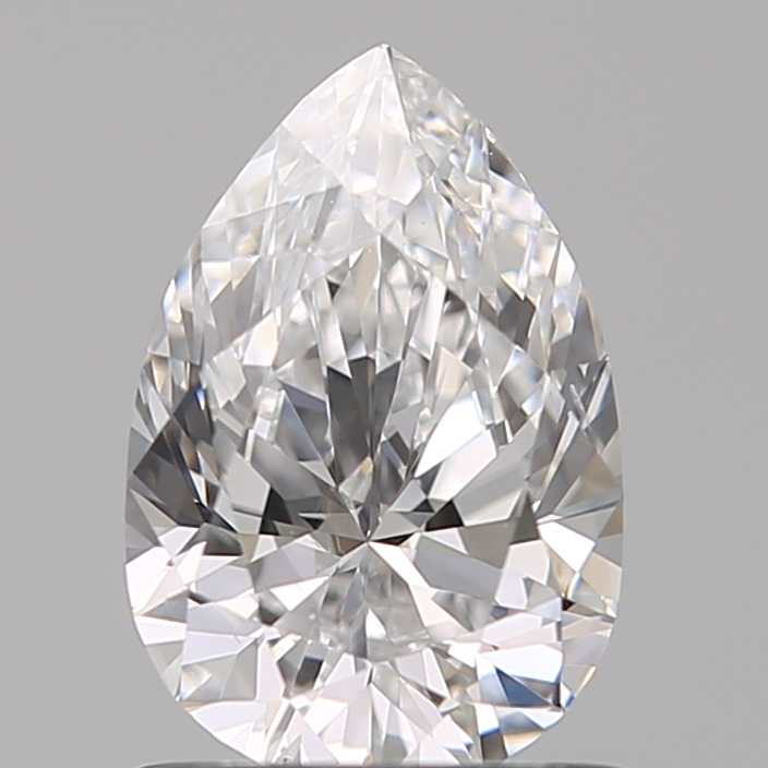 0.90-Carat Natural Ideally Cut Pear Diamond