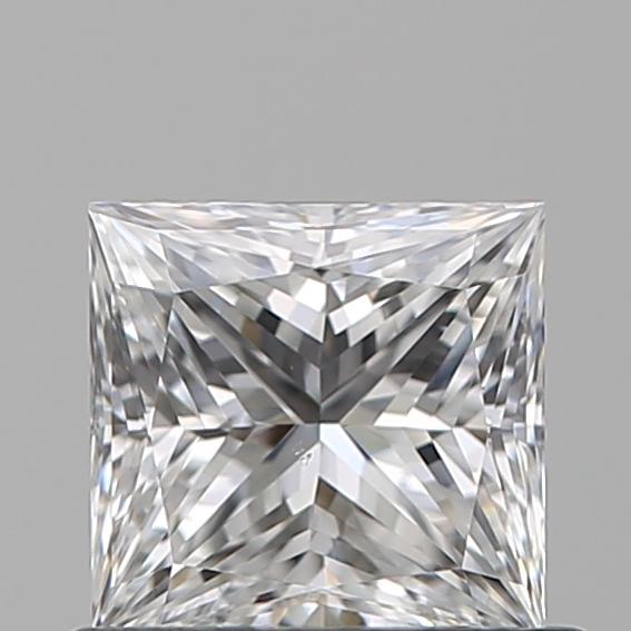 0.70-Carat Natural Ideally Cut Princess Diamond