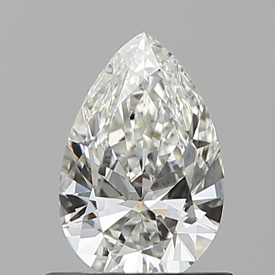 0.65-Carat Natural Ideally Cut Pear Diamond