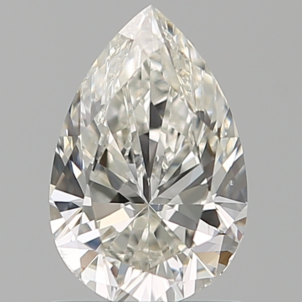 1.00-Carat Natural Ideally Cut Pear Diamond