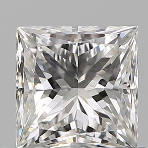 0.50-Carat Natural Ideally Cut Princess Diamond