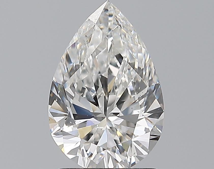 1.50-Carat Natural Ideally Cut Pear Diamond
