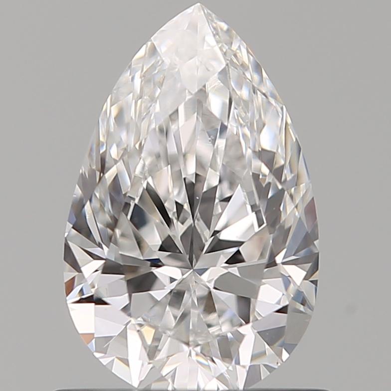 0.71-Carat Natural Ideally Cut Pear Diamond